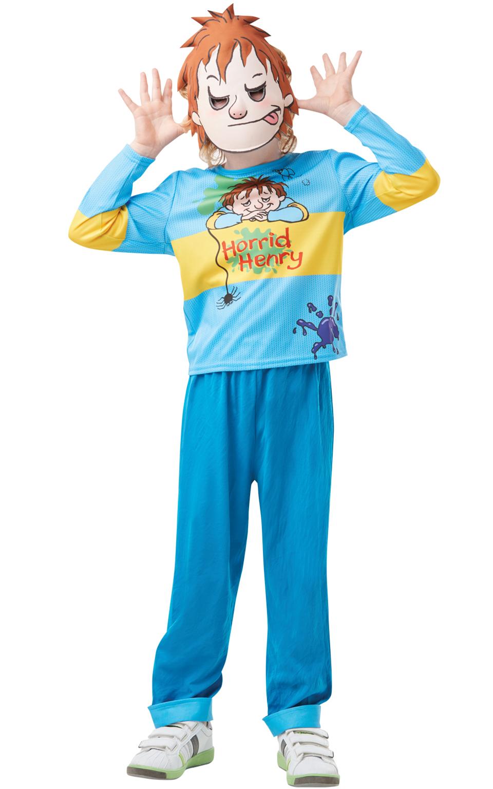Boys Horrid Henry Costume Kids School Book Week Story Fancy Dress Outfit