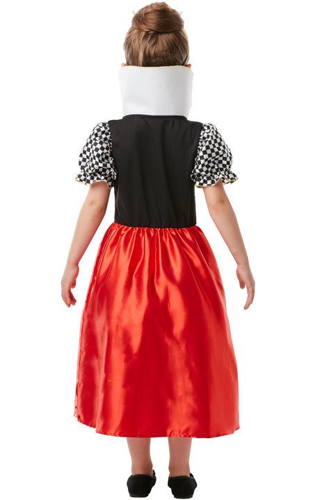 Girls Red Queen of Hearts Costume kids Disney Alice in Wonderland Fancy Dress Thumbnail 3