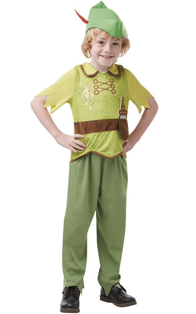 Boys Peter Pan Costume Kids Licensed School Book Week Fairytale Fancy Dress