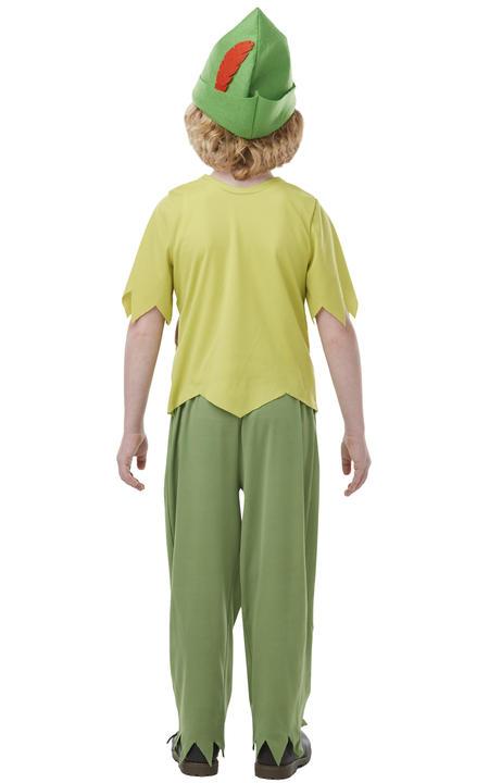 Boys Peter Pan Costume Kids Licensed School Book Week Fairytale Fancy Dress  Thumbnail 3