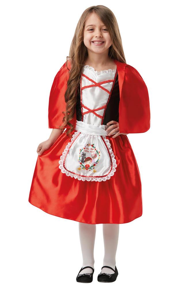 Girls Red Riding Hood Costume Kids school book week Fairytale Fancy Dress Outfit