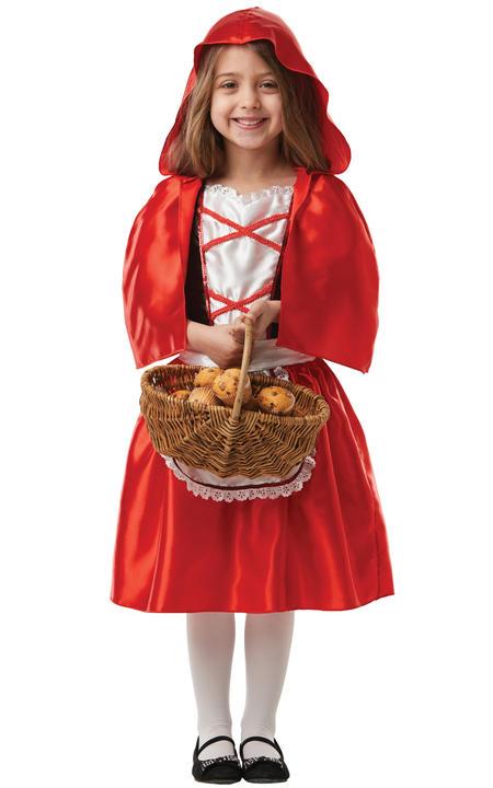 Girls Red Riding Hood Costume Kids school book week Fairytale Fancy Dress Outfit Thumbnail 2