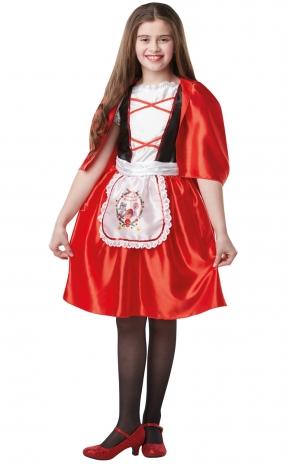 Girls Red Riding Hood Costume Kids school book week Fairytale Fancy Dress Outfit Thumbnail 1