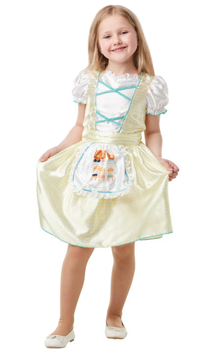 Girls Goldilocks Costume Kids school book week Fairytale Fancy Dress Story Outfi Thumbnail 1