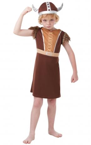 Boys Viking Warrior Costume Kids School Book Week Fancy Dress Story Outfit Thumbnail 1