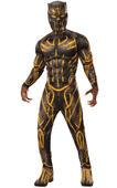 Killmonger Battle Deluxe Costume Men's Fancy Dress Outift Black panther Marvel