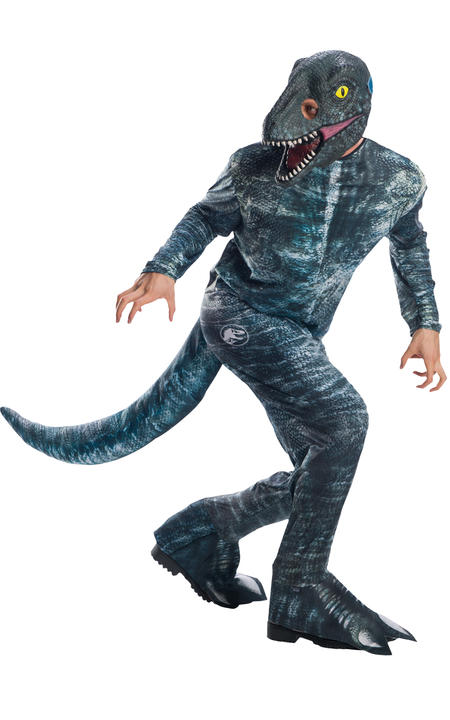 Velociraptor Blue Jurassic World Men's Costume Thumbnail 1
