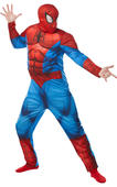Spiderman Deluxe Mens Costume Fancy Dress Outfit Adult Marvel DC Comics Dressup
