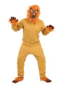 Lion Costume Mens Womens Costume Adults Fancy Dress Outfit Animal Party