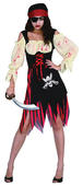 Pirate Caribbean Womens costume Swashbuckler Ladies Fancy Dress Hen Party Outfit