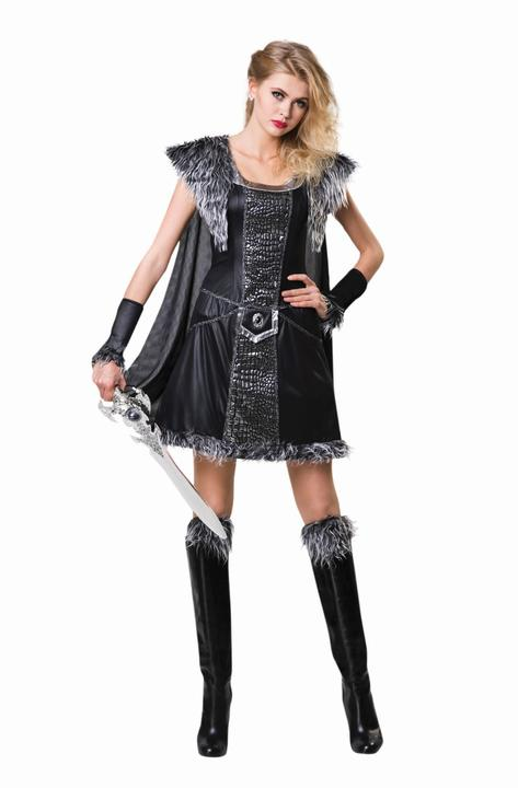 Medieval Warrior Princess Womens Costume Viking Ladies Fancy Dress Outfit Thumbnail 1
