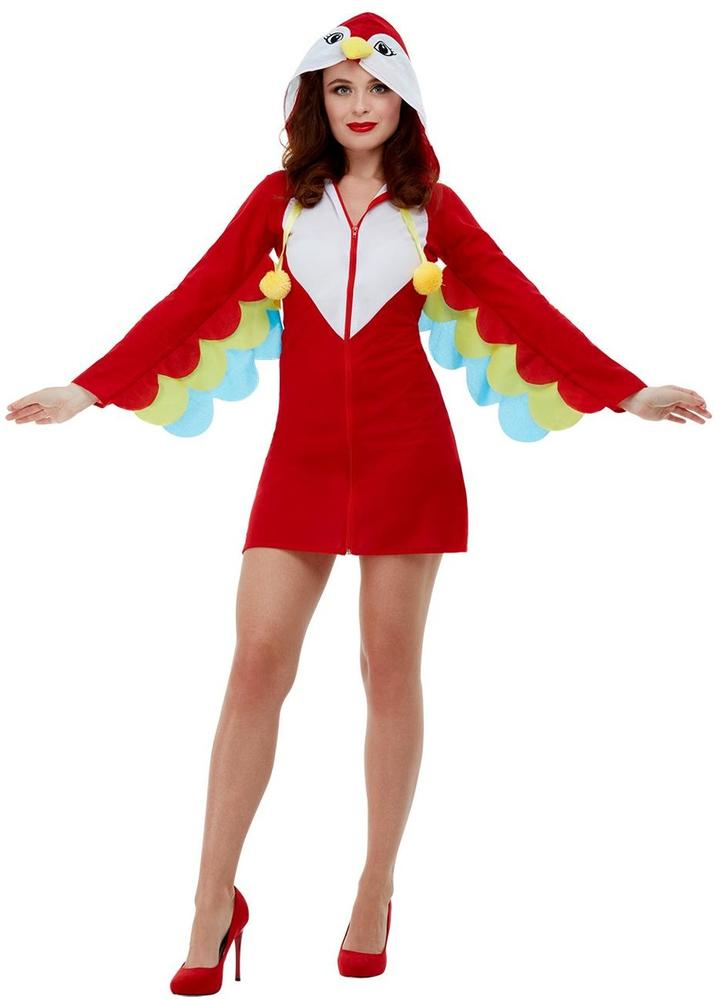 Parrot Womens Costume Ladies Fancy Dress Outfit Animal Bird Dressup