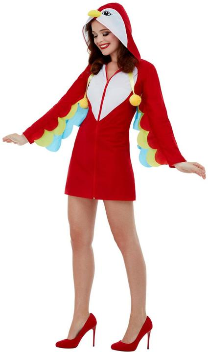 Parrot Womens Costume Ladies Fancy Dress Outfit Animal Bird Dressup  Thumbnail 2
