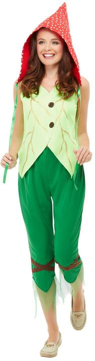 Toadstool Pixie Womens Costume Ladies Fancy Dress Outfit Fairytale Story Dressup Thumbnail 2