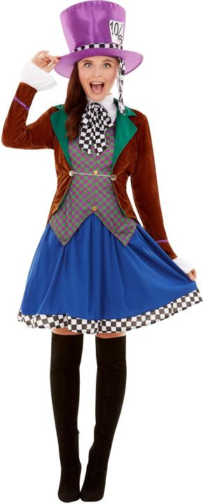 Mad Hatter Womens Costume Ladies Alice Wonderland Fancy Dress outfit Book Story Thumbnail 2