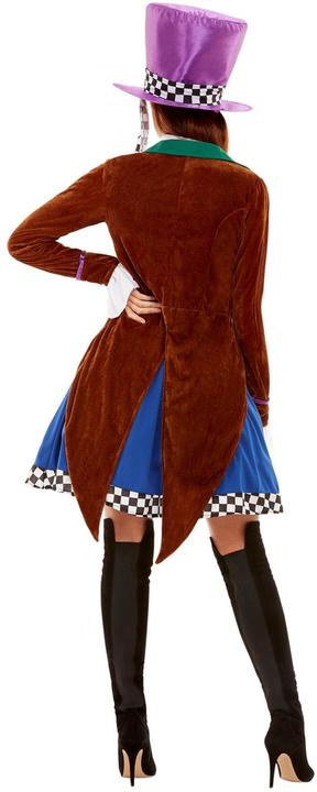 Mad Hatter Womens Costume Ladies Alice Wonderland Fancy Dress outfit Book Story Thumbnail 3