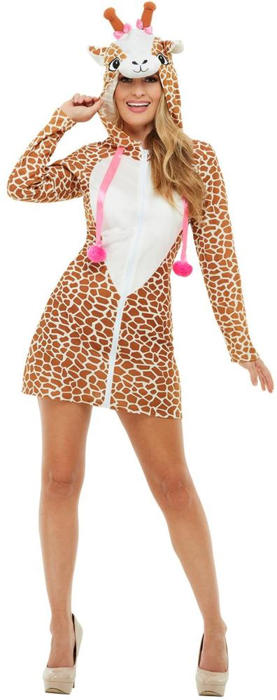 Giraffe Womens Costume Ladies Animal Fancy Dress Outfit Zoo Dressup Story book