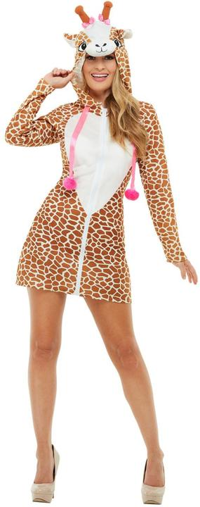 Giraffe Womens Costume Ladies Animal Fancy Dress Outfit Zoo Dressup Story book Thumbnail 1