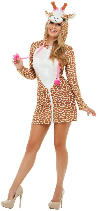 Giraffe Womens Costume Ladies Animal Fancy Dress Outfit Zoo Dressup Story book Thumbnail 2