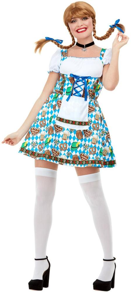 Oktoberfest Beer Maiden Womens Costume Tavern Ladies Fancy Dress outfit Dressup