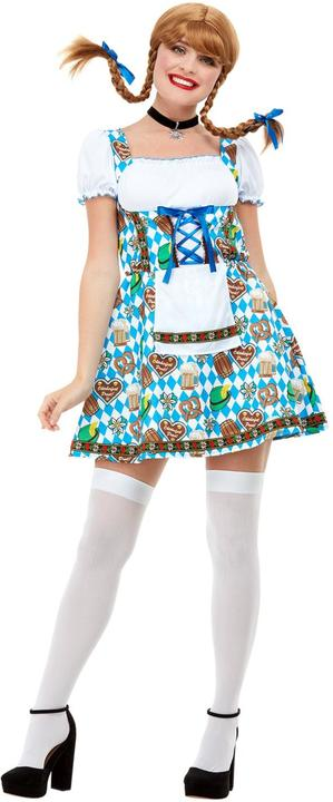 Oktoberfest Beer Maiden Womens Costume Tavern Ladies Fancy Dress outfit Dressup Thumbnail 2