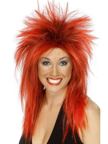Rock Diva Wig Red and Black Thumbnail 1