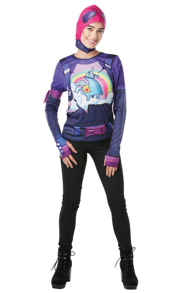 Brite Bomber Costume Top Fortnite womens Fancy Dress Outfit Gaming Dressup