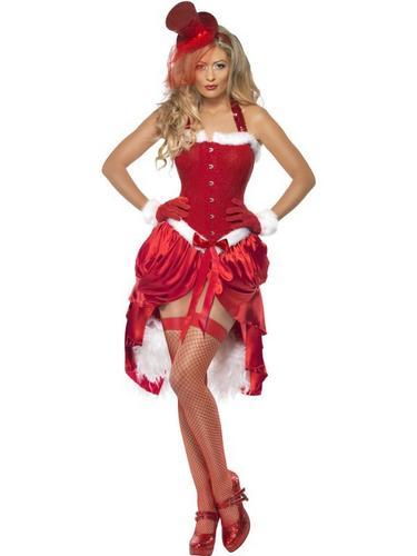 Santa Baby Burlesque Fancy Dress Costume Thumbnail 1