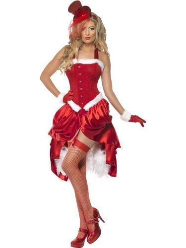 Santa Baby Burlesque Fancy Dress Costume Thumbnail 2
