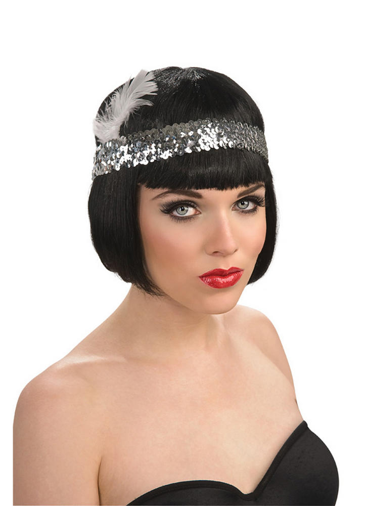 Sequin Flapper Headpiece Silver
