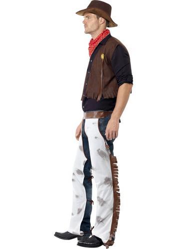 Cowboy Costume Brown Thumbnail 3