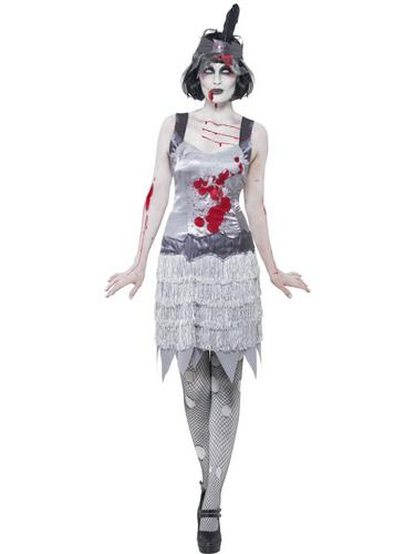 Zombie Flapper Dress Costume Thumbnail 1