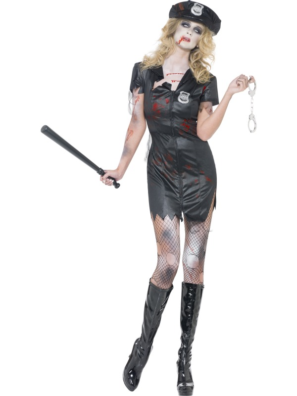 Adult Sexy Zombie Policewoman Cop Ladies Halloween Party Fancy Dress Costume  Sc 1 St Wonderland Party 35e9a3f09
