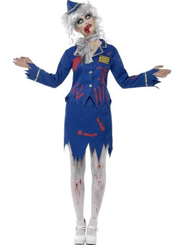 Zombie Air Hostess Costume Thumbnail 1