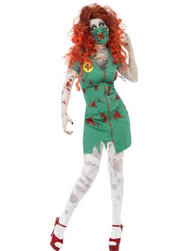 Zombie Scrub Nurse Costume Thumbnail 1