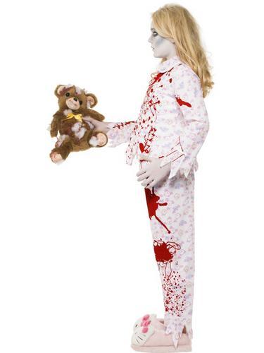 Zombie Pyjama Girl Costume Thumbnail 3