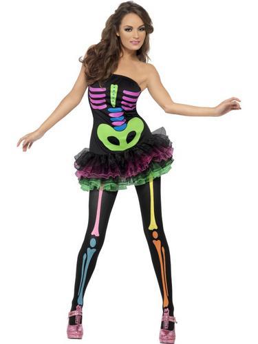 Fever Neon Skeleton Costume Thumbnail 1