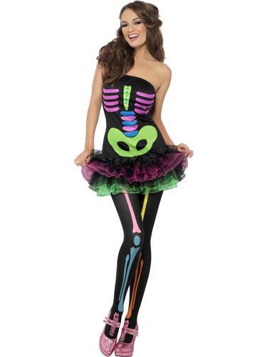 Fever Neon Skeleton Costume Thumbnail 2