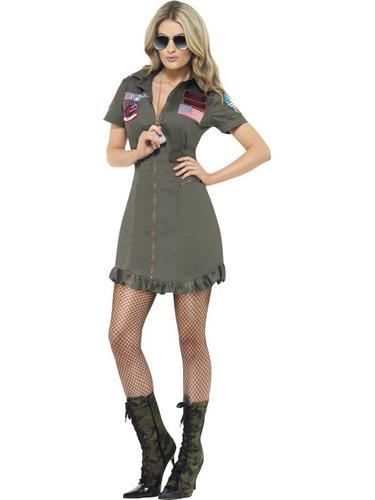 Top Gun Deluxe Female Costume Thumbnail 1