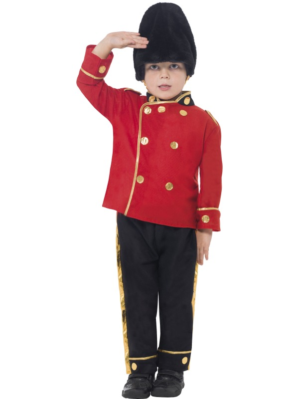 Kids Busby Guard Costume  sc 1 st  Wonderland Party & Kids Royal British Soldier Busby Queens Guard Boys Book Week Fancy ...