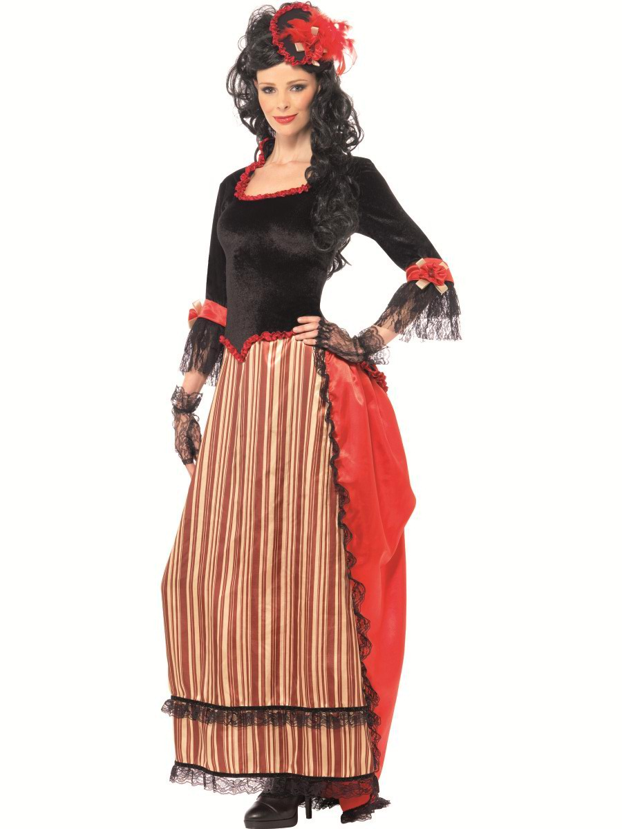 Authentic Western Town Sweetheart Costume  sc 1 st  Wonderland Party & Adult Authentic Wild West Western Saloon Sweetheart Ladies Fancy ...