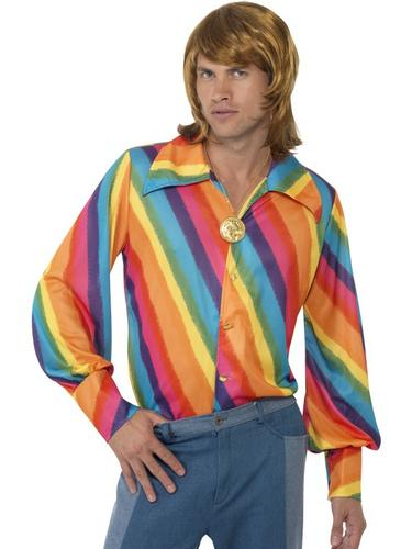 1970s Rainbow Colour Shirt Thumbnail 1