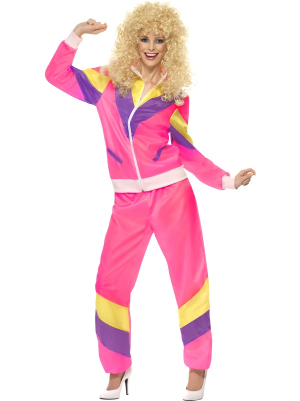 Adult Funny 80\'s Height of Fashion Shell Suit Ladies Fancy Dress ...