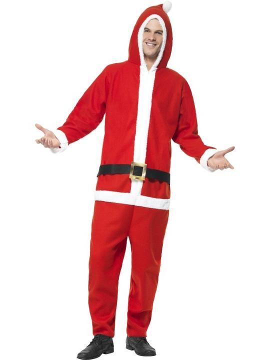 Adult  All in One Santa Costume Thumbnail 1