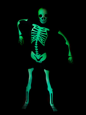 sc 1 st  Wonderland Party & Glow in dark skeleton Morphsuit