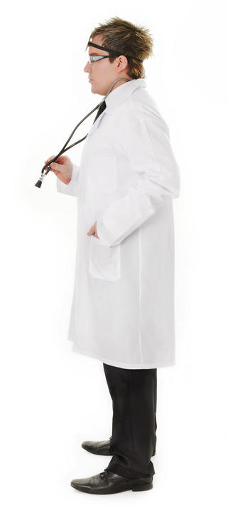 Men's Doctor Coat Fancy Dress Costume Thumbnail 3