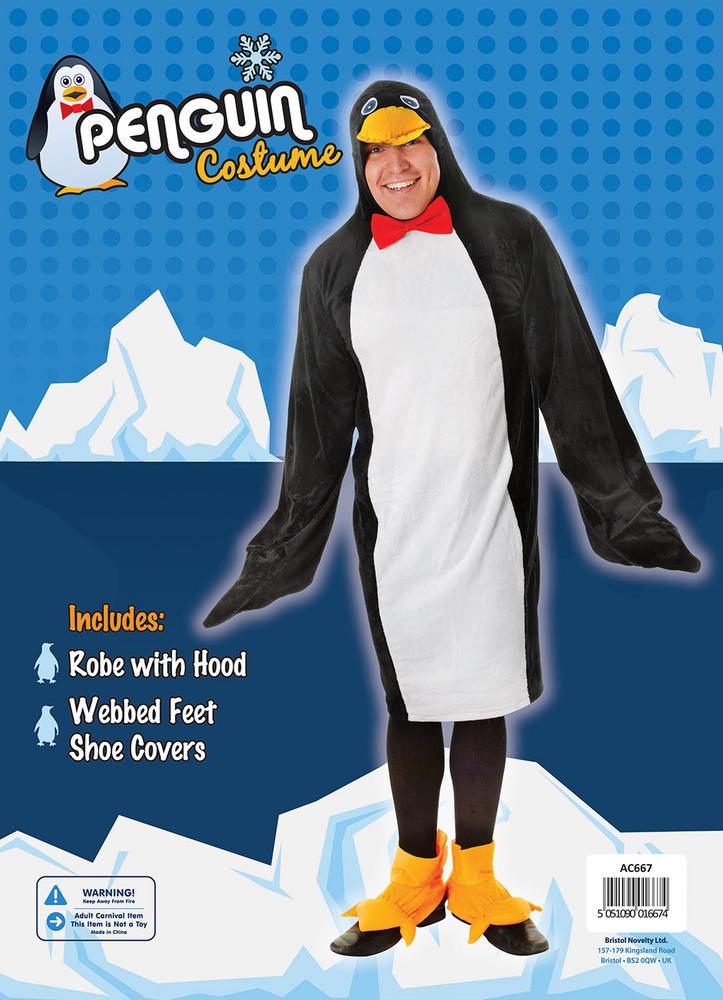 Men's Penguin Fancy Dress Costume