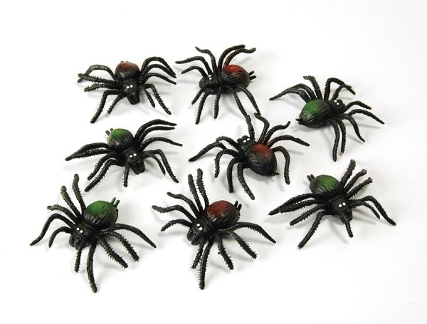 Scary Creatures.  Spiders. (8/pkt)