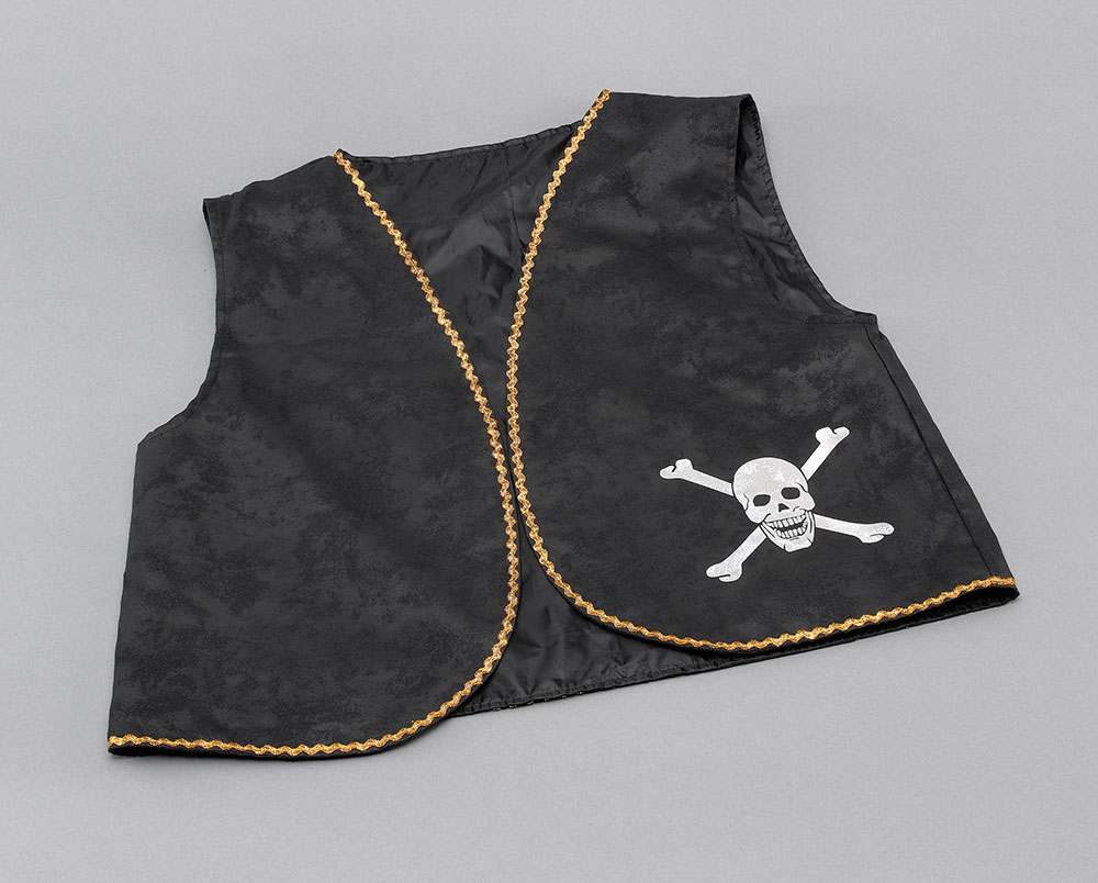 Pirate Waistcoat. Black Distressed