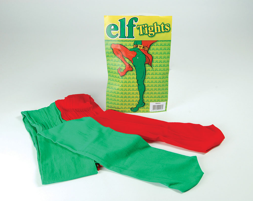 Elf Tights. Green/Red